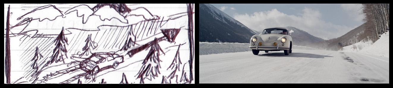 Jeff Zwart Porsche 356 PRE A storyboard Scenic
